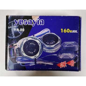 Yuayin YA-20 mylar dome tweeters 2x160w max. (PER TWEE)