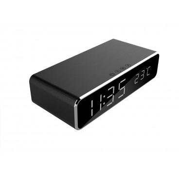 Digitale wekker met draadloze laadfunctie voor smartphone