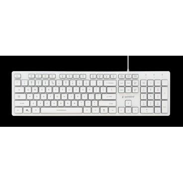 KB-UML3-01-W Multimedia toetsenbord (wit) met backlight
