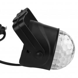 Led Party Discolamp met afstandsbediening en 3 × 1W RGB lichten