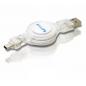 Philips Uitrekbare Mini USB Kabel, 0,8 m