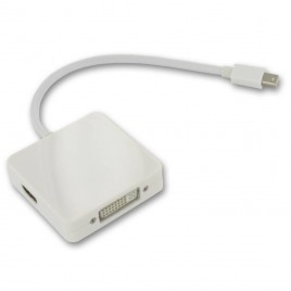 3in1 Mini DisplayPort naar DVI, HDMI en DisplayPort
