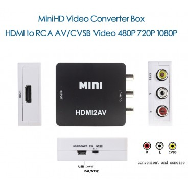 Converter HDMI naar RCA Audio/Video