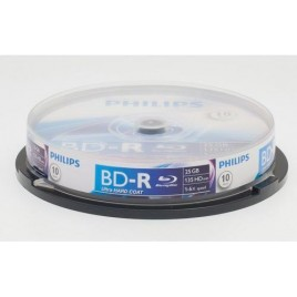 PHILIPS BD-R-25GB RECORDABLE BLU-RAY DISC