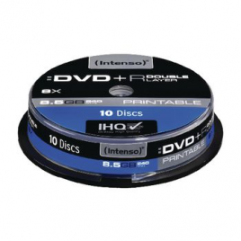 Intenso DVD+R 8,5GB 8x Double Layer Printable 10x Spindel Pakket (10 Stuks)