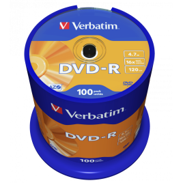 Verbatim DVD-R 100 stuks, op Spindel