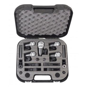 NJS 7-delige drummicrofoonset met koffer