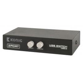 Konig 2-Poorts USB Schakelaar
