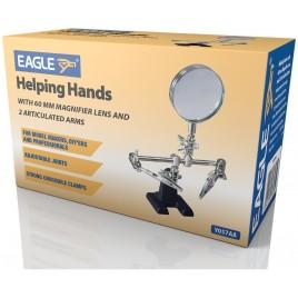 Helpende handen met 60 mm vergrootglas en 2 gelede armen