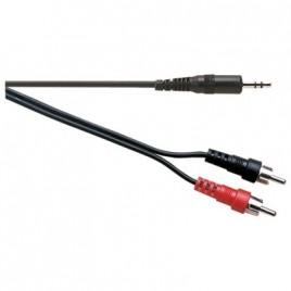 Electrovision Standaard 3.5 mm Stereo naar 2x Tulp Snoer, Standaard
