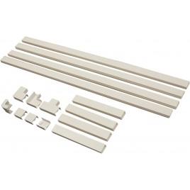 Kabelgoot set wit met hoekstukken