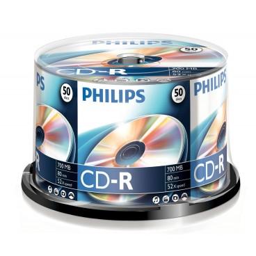 Philips CD-R spindel, 50 stuks