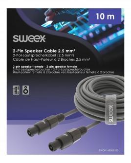 Speakon Luidsprekerkabel 2-Pins - Speaker 2-Pins 10.0 m