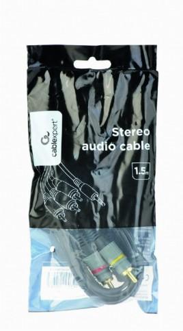 Cablexpert 3,5 mm naar RCA audio/video kabel, 1.5 m